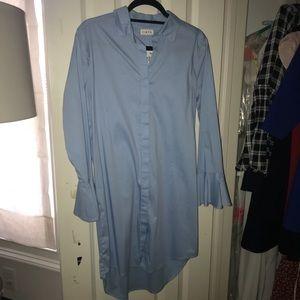 Firth long sleeve button down dress